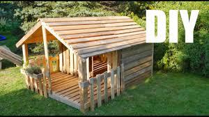 Spielhaus Gartenhaus Für Kinder Selber Bauen Aus Paletten