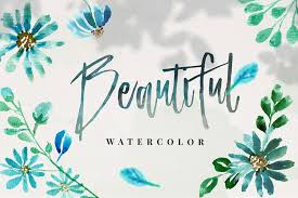 Some free watercolor flower clipart for all you internet friends today! 10 Blue Watercolor Flowers Free Design Resources