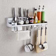 Wall Mounted Kitchen Rack 2017 Wall Mounted Kitchen Spice Rack Utensil Pot Pan Hanger