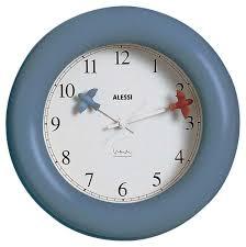 wall clock in abs light blue quartz movement instructions alessi