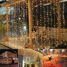 Curtain String Led Lights Led Curtain Light 304led 9 8ft 9 8ft Christmas Curtain