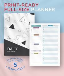 Design Schedule Template Daily Planner Templates Printable Download Pdf