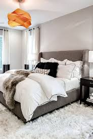 modern bedroom furniture with storage. Exciting Modern Bedroom Furniture With Storage Orange Decorative Pendant Lamp Light Grey Wall Fabric Bed B