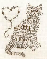 Cat Cross Stitch Patterns Beauteous Imaginating Let's Purr Cross Stitch Pattern 48Stitch