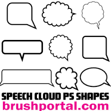 Photoshop Speech Bubble Speech Clouds And Bubbles Photoshop Shapes Florals And