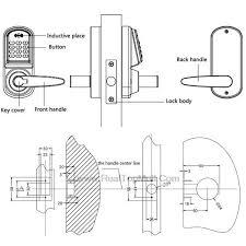 intelligent keypad pword code bination door lock digital keyless electronic door locks with rfid card in locks from home improvement on aliexpress