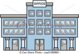 building an office. Office Building Doodle Illustration An C