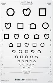 Proportional Spaced Lea Symbols Chart 10 Foot