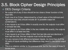 Block Cipher Design Principles Chapter3 Block Ciphers And The Data Encryption Standard