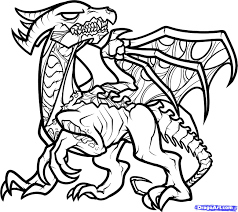 Small Picture Minecraft Ender Dragon Coloring Pages GetColoringPagescom