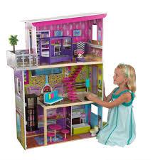 wooden barbie doll furniture. KidKraft Modern Wooden Dollhouse + Furniture Kid Toy Girl Barbie Size Doll House
