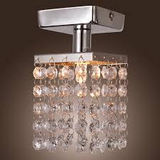 pendant and chandelier lighting. lightinthebox mini semi flush mount in crystal chrome finish modern home ceiling light fixture pendant chandeliers lighting and chandelier e