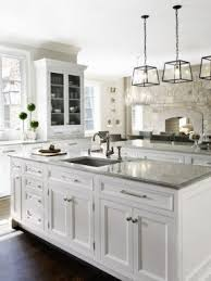 white kitchen. White Kitchen Island With Granite Top