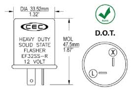 cec flasher wiring diagram cec discover your wiring diagram amazon cec industries ef32ssr turn signal flasher relay led