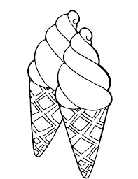 Small Picture Double Sweet Ice Cream Cone Coloring Pages Bulk Color
