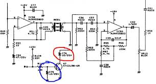 vox guitar amp problem look at the section of the schematic shown below