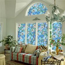 static window s 3 meters pvc s glass sticker non glue fork art glass poster