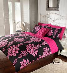 pink bliss double duvet cover ooh noo cassandra black fucshia embroidered bed linen warehouse belfast dublin