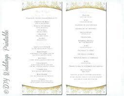 Catholic Wedding Ceremony Program Templates Wedding Program Template Photoshop Catholic Wedding Program Template