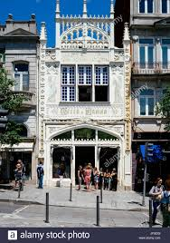 Entrance of the Livraria Lello Lello bookstore Porto Portugal
