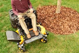 zero turn mowers poulan pro zero turn around mulch tree