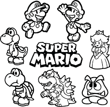 Coloring Pages Mario Mario Free Coloring Pages