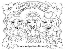 Startling Face Painting Coloring Pages Pennywise The Clown Plus For