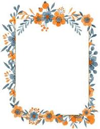 Flower Border Designs For Paper Free Flower Border Template Personal Commercial Use