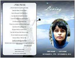 Funeral Program Templates Publisher Service Template Word Free