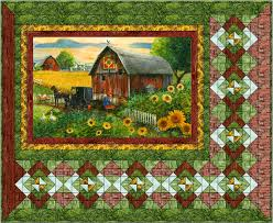 Panel Quilt Patterns Adorable Panel Quilt Patterns Fabric And Kits