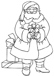 Small Picture Coloring Pages Of Santa Claus And Gifts Christmas Coloring pages
