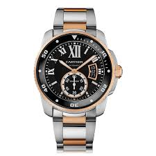 mens cartier watches the watch gallery cartier calibre de cartier automatic rose gold black dial mens dive watch w7100054