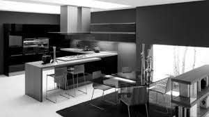 Black White And Grey Kitchen Elegant L Shaped Kitchen Design With White Window Frame And Marble