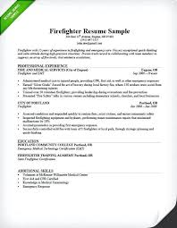 Firefighter Resume Template Beauteous Sample Firefighter Resume Dewdrops