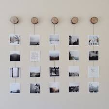 Collection of blank images hanging on a piece of string, vector