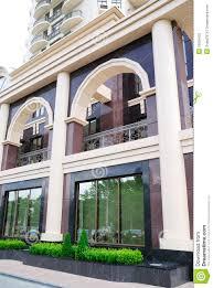 The Facade Of A Modern Building Stock Photography Image - Modern apartment building facade