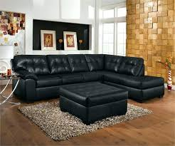 black leather sofa corner chaise sleeper set couch arm covers