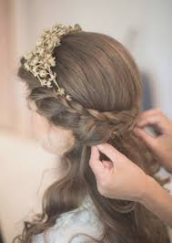 Down Medium Hair Wedding Hairstyles With For Length Half Up Latest 2