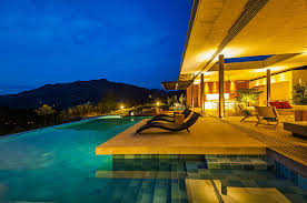 swimming pool lighting design. Perfect Lighting Outdoor Pool Lighting Ideas For Modern Residence Design With Lounge  Chair And Swimming