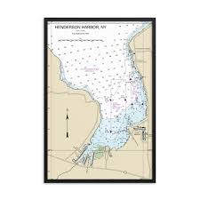 White Lake Ontario Depth Chart Henderson Harbor New York Lake Ontario Hardwood Framed