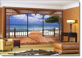 add a breathtaking beach view to any room in your home or office with this beautiful tropical beach themed wall mural meaning the paradise el paradiso