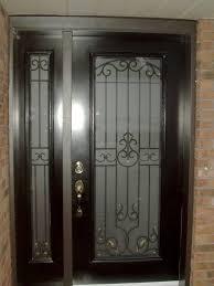 wrought iron steel door