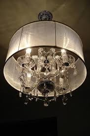 vanity drum lamp shades for chandeliers architecture and interior for awesome property crystal chandelier with drum shade remodel