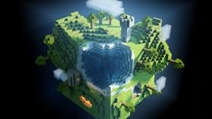 9 0 1366x768 158226 minecraft background graphics preview wallpaper minecraft planet cube cubes world