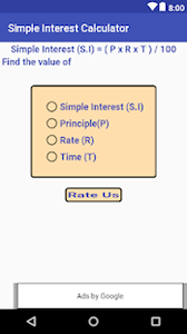 Simple Interest Calculator For Android Free Download And Software