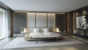 contemporer bedroom ideas large. Cool And Simple Bedroom Ideas Large Minimalist Design With Beautiful Side Table Night Stand Grey Fur Rug Windows Modern Wood Paneling Contemporer P