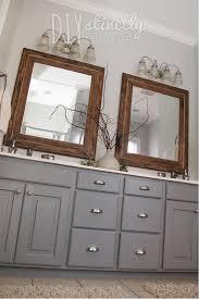 Painted Bathroom Cabinets Painted Bathroom Cabinets Diystinctly Made