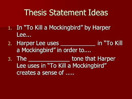 to kill a mockingbird tone and mood essay ppt video online  thesis statement ideas
