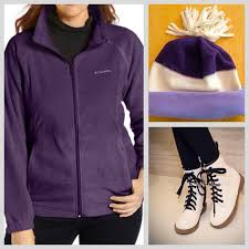plus size columbia jackets 31 off columbia jackets coats new purple fleece jacket plus size
