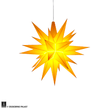 Herrnhuter Stern A1e Gelb Kunststoff 13 Cm